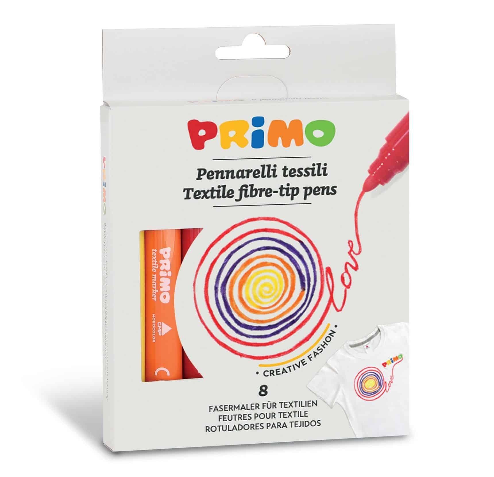 Fixy na textil PRIMO, sada 8ks