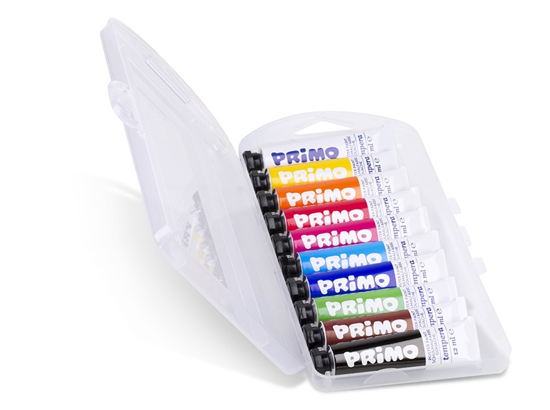 Temperové barvy PRIMO, sada 10 x 12 ml