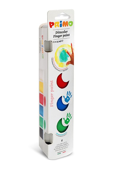 Prstové barvy PRIMO, 6 x 25ml