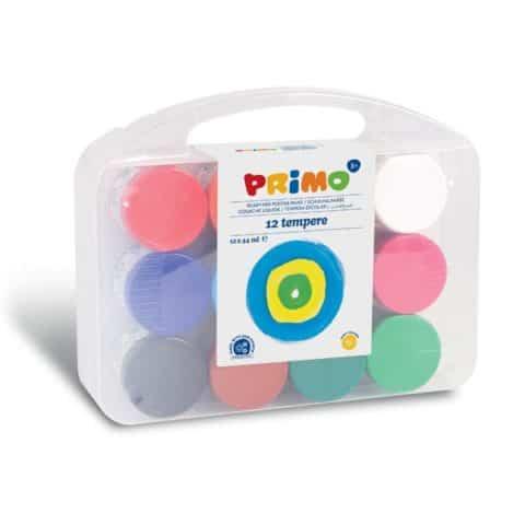 Temperové barvy PRIMO, dárková sada 12 x 44ml, PP box