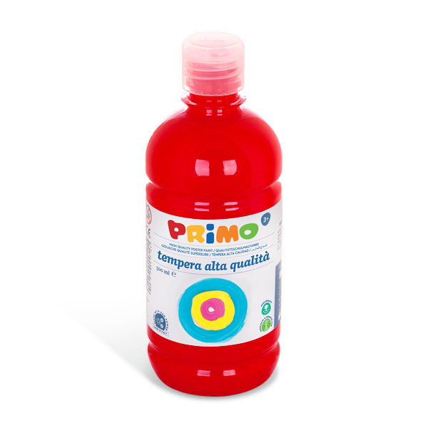 Temperová barva PRIMO, 500ml, červená (č. barvy 300)