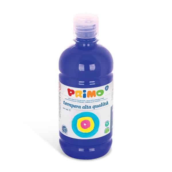 Temperová barva  PRIMO, 500ml, modrá (č. barvy 500)