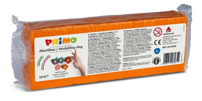 Plastelína PRIMO, 550 g, oranžová (č. barvy 250)