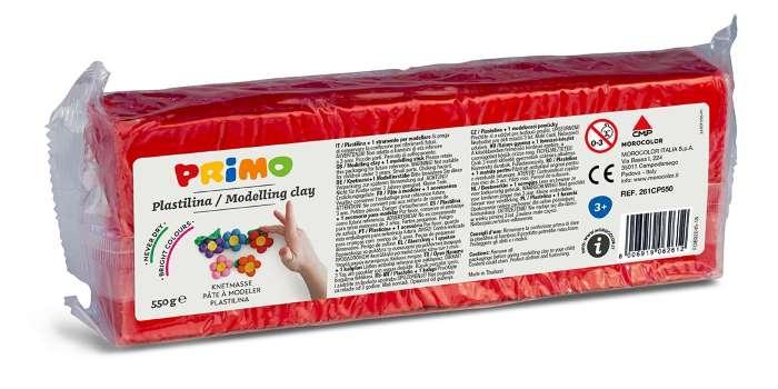 Plastelína PRIMO, 550 g, červená (č. barvy 310)