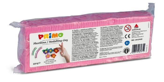Plastelína PRIMO, 550 g, růžová (č. barvy 330)