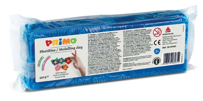 Plastelína PRIMO, 550 g, modrá (č. barvy 530)