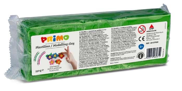 Plastelína PRIMO, 550 g, zelená (č. barvy 610)