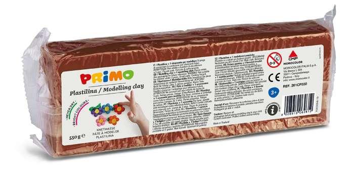 Plastelína PRIMO, 550 g, hnědá (č. barvy 730)