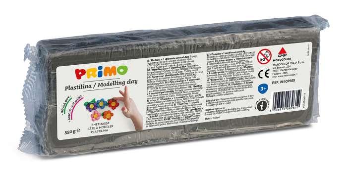 Plastelína PRIMO, 550 g, šedá (č. barvy 850)