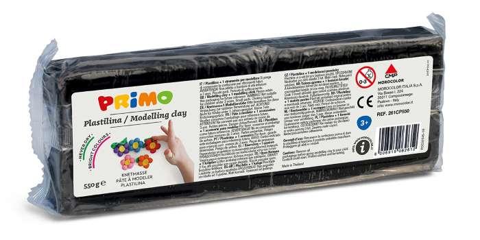 Plastelína PRIMO, 550 g, černá (č. barvy 800)