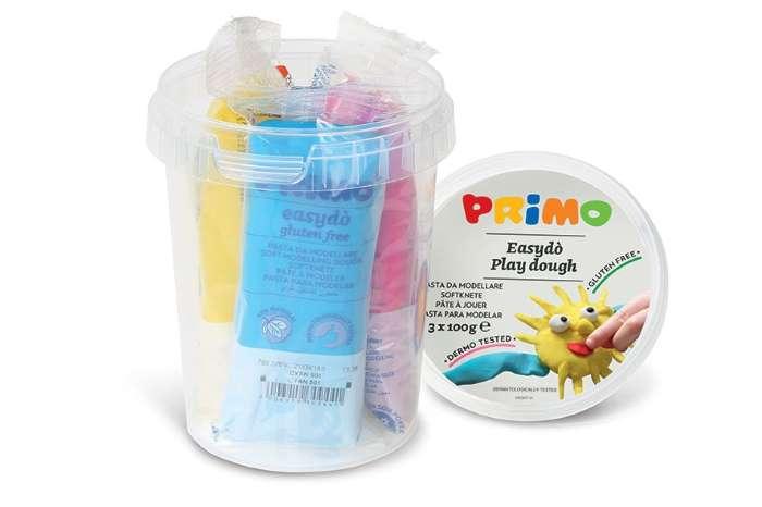 Sada mod. hmot PRIMO NATUR, 3 x 100g, mix barev, kyblík