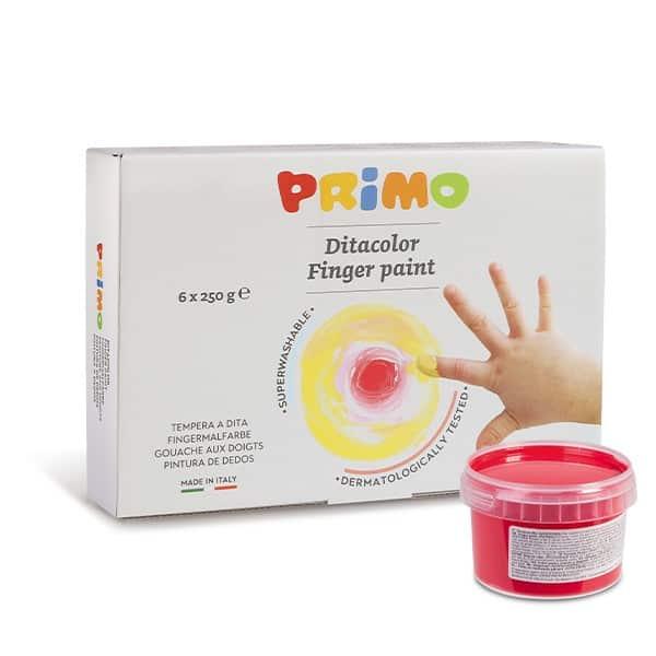 Prstové barvy PRIMO, sada 6 x 250ml
