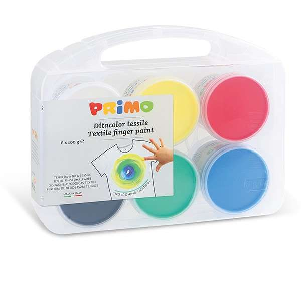 Sada prstových barev na textil PRIMO, 6 x 100ml