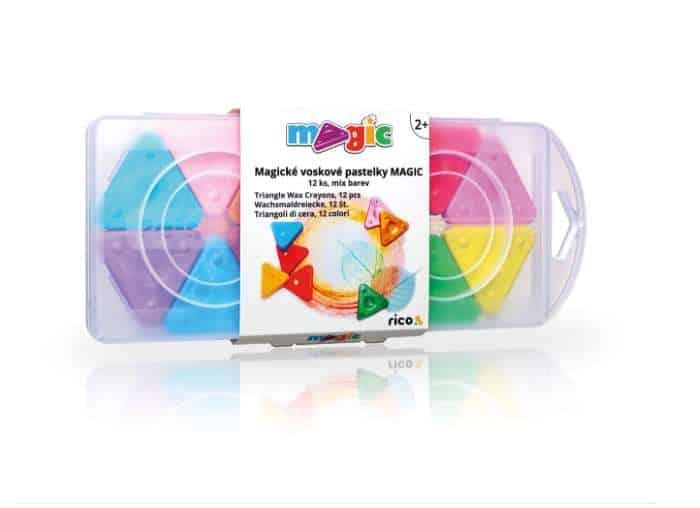 Voskové pastelky MAGIC PRIMO, sada 12ks, mix barev, PP box