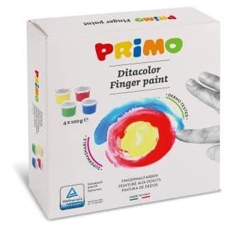 Prstové barvy PRIMO, sada 4 x 100g