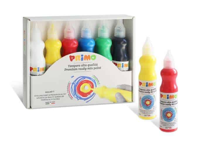 Temperové 3D barvy PRIMO BASIC, sada 6 x 75 ml, box