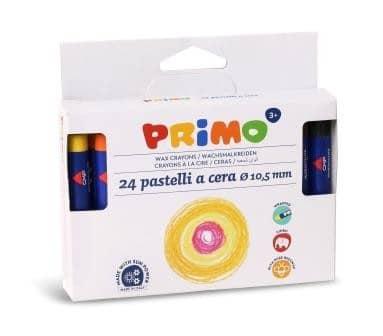 Voskové pastelky PRIMO MAXI, 10,5 x 98mm, 24ks, papírový obal