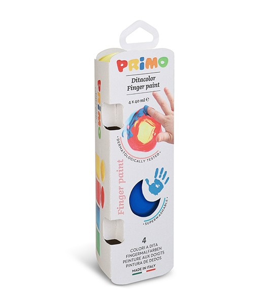 Prstové barvy PRIMO, 4 x 40ml