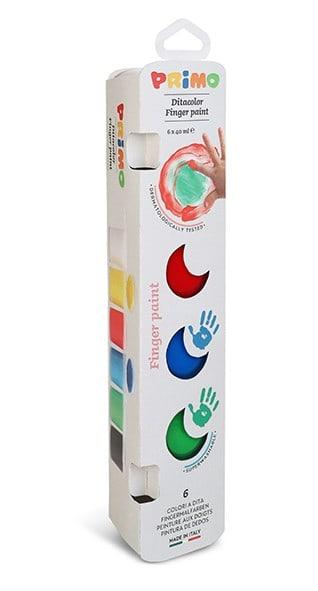 Prstové barvy PRIMO, 6 x 40ml
