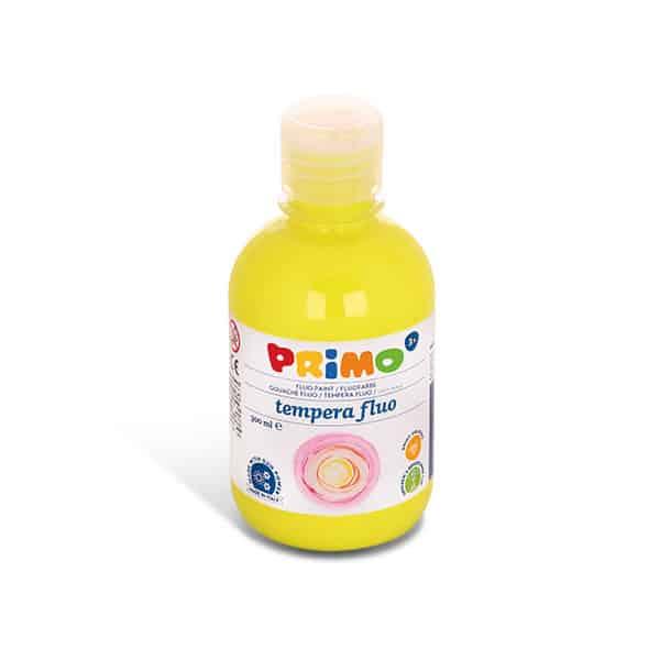 Temperová barva PRIMO FLUO, 300ml, žlutá (č. barvy 210)