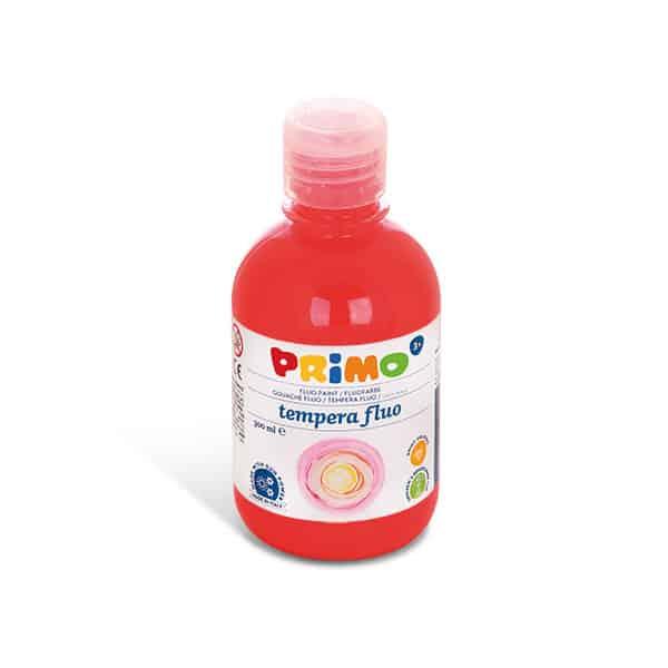 Temperová barva PRIMO FLUO, 300ml, červená (č. barvy 300)