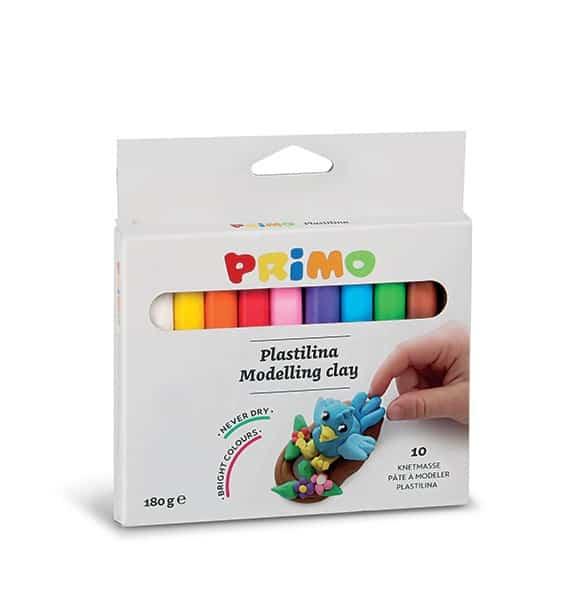 Plastelína PRIMO, 10 x 18 g, mix barev