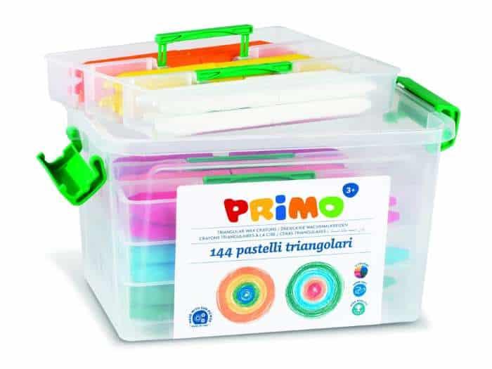 Trojboké voskovky PRIMO SUPERSOFT, 144ks, PP box