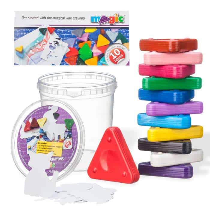 MAGIC Triangular Wax Crayons Step By Step Set