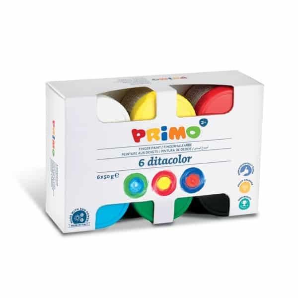Prstové barvy PRIMO, sada 6 x 50g