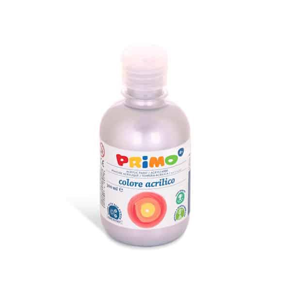 Akrylová barva PRIMO 300 ml, stříbrná