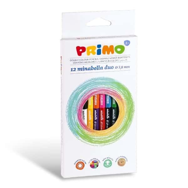 Pastelky PRIMO MINABELLA DUO, tuha  3,8mm, 12ks, lakované