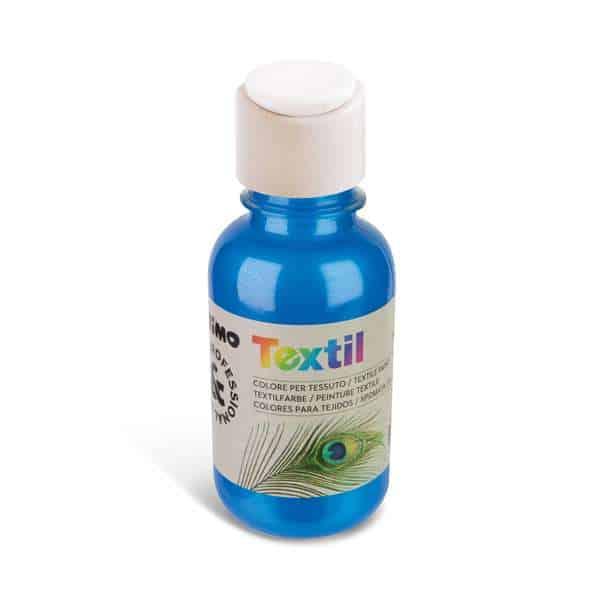 Barva na textil PRIMO METALIZA, 125 ml, modrá (č. barvy 500)