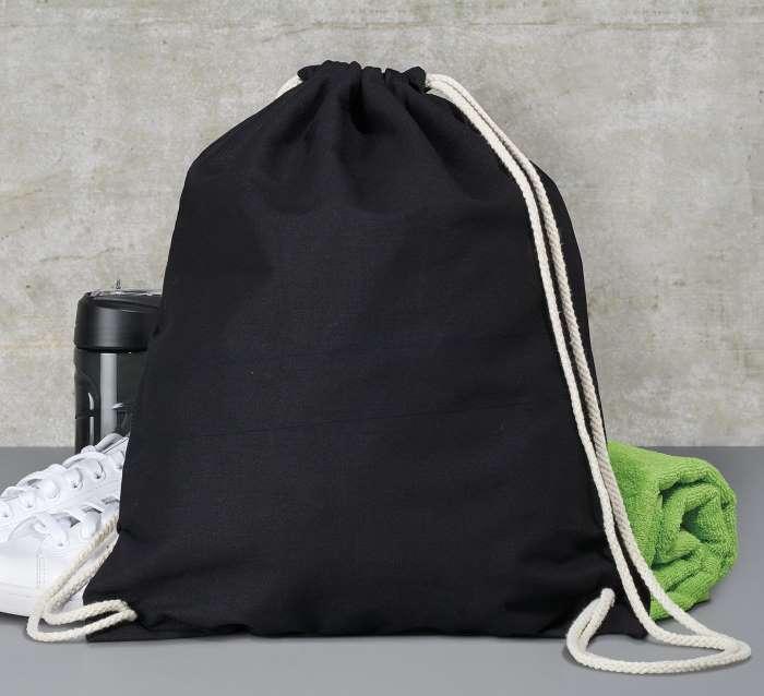 Batoh bavlněný, černý (Black)