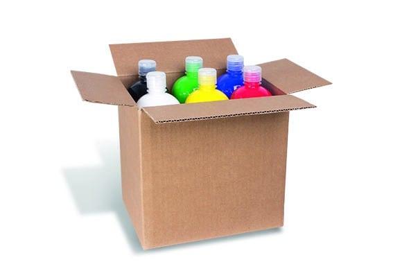 Temperové barvy PRIMO, 6 x 1000ml, mix barev, kartonový box
