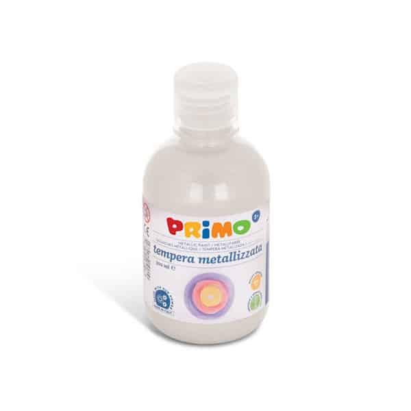Temperová barva PRIMO METALLIC, 300ml, bílá (č. barvy 100)