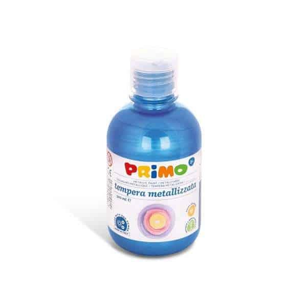 Temperová barva PRIMO METALLIC, 300ml, modrá (č. barvy 500)