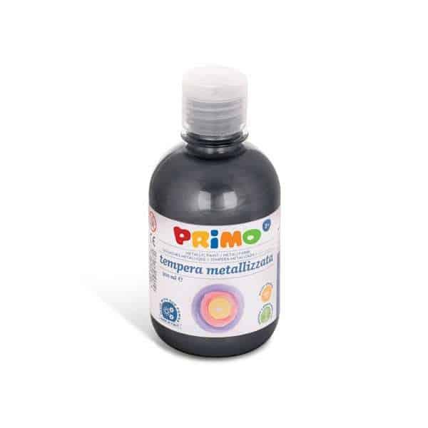 Temperová barva PRIMO METALLIC, 300ml, černá (č. barvy 800)