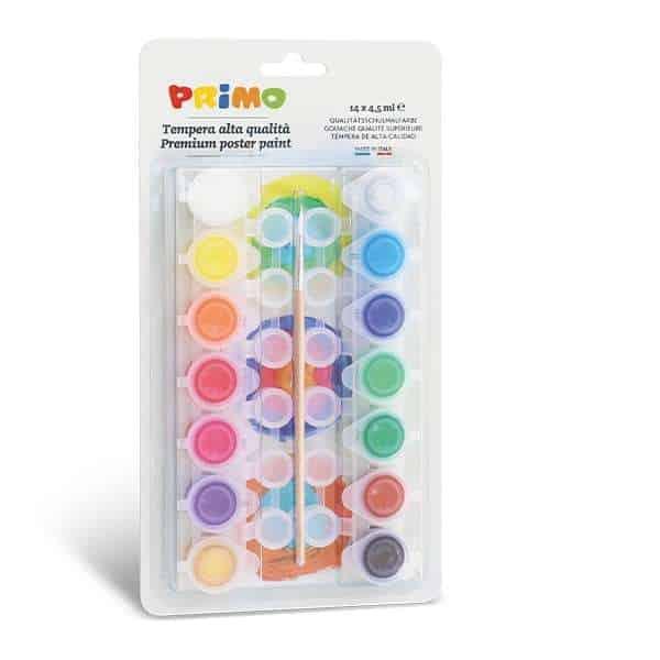 Temperové barvy PRIMO, 14 x 4,5 ml, blistr