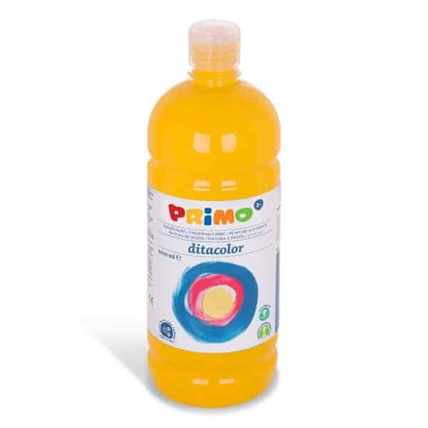 Prstová barva PRIMO 1000ml, žlutá (č. barvy 210)