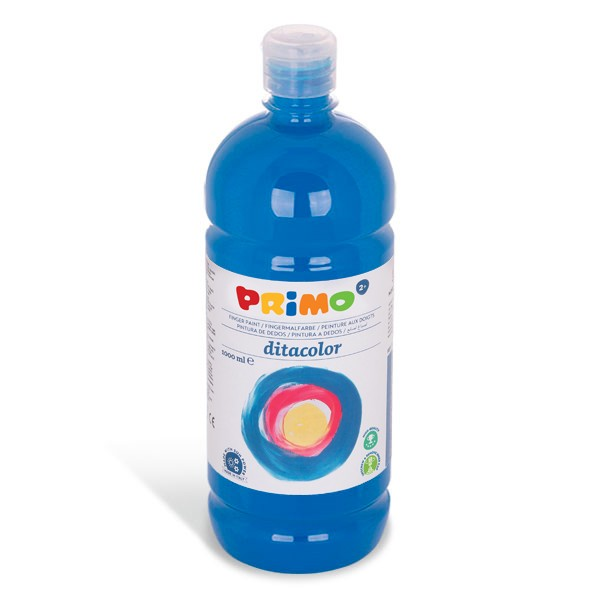 Prstová barva PRIMO 1000ml, sv. modrá (č. barvy 501)