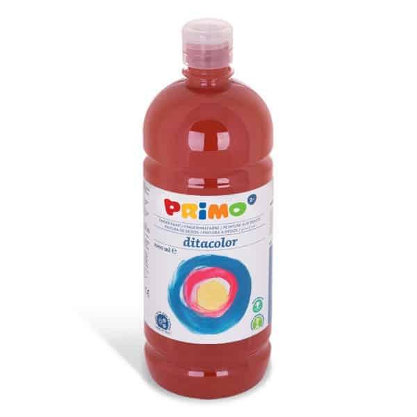 Prstová barva PRIMO 1000 ml, hnědá (č. barvy 730)