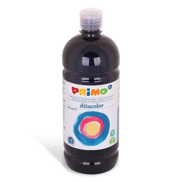 Prstová barva PRIMO 1000 ml, černá (č. barvy 800)