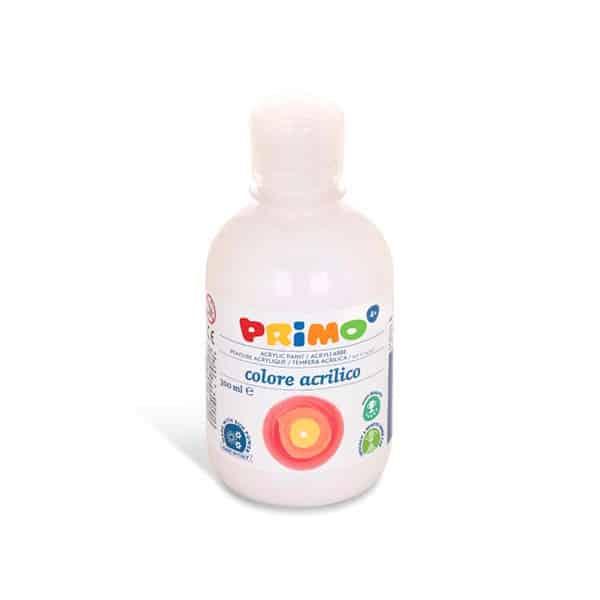 Akrylová barva PRIMO 300ml, bílá (č. barvy 100)