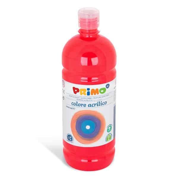 Akrylová barva PRIMO 1000ml, červená (č. barvy 300)
