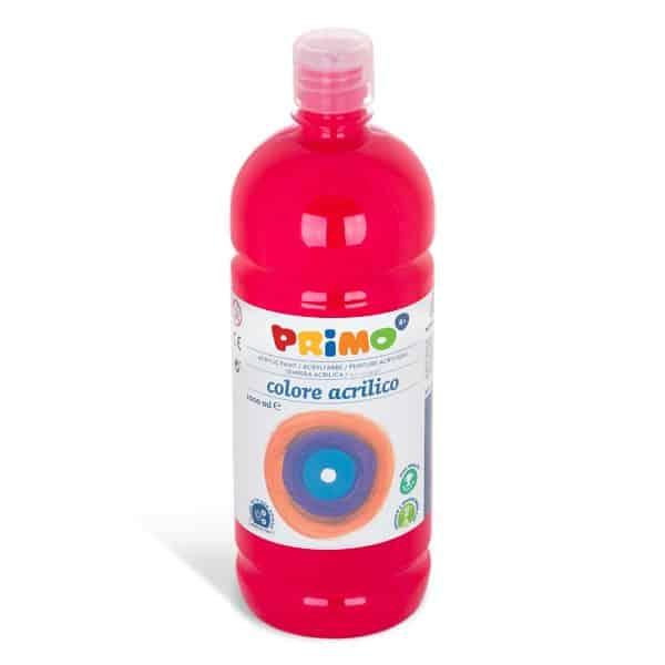 Akrylová barva PRIMO 1000ml, karmínově červená (č. barvy 310)
