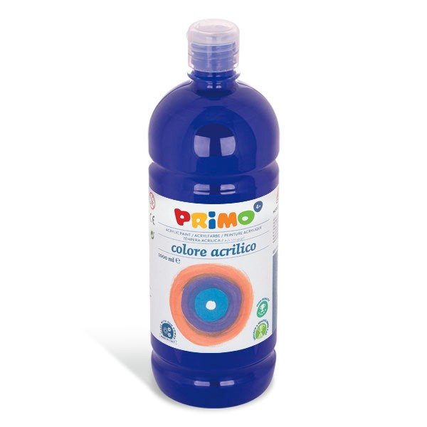 Akrylová barva PRIMO 1000ml, modrá (č. barvy 500)