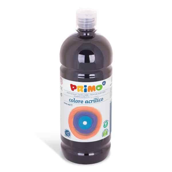 Akrylová barva PRIMO 1000ml, černá (č. barvy 800)