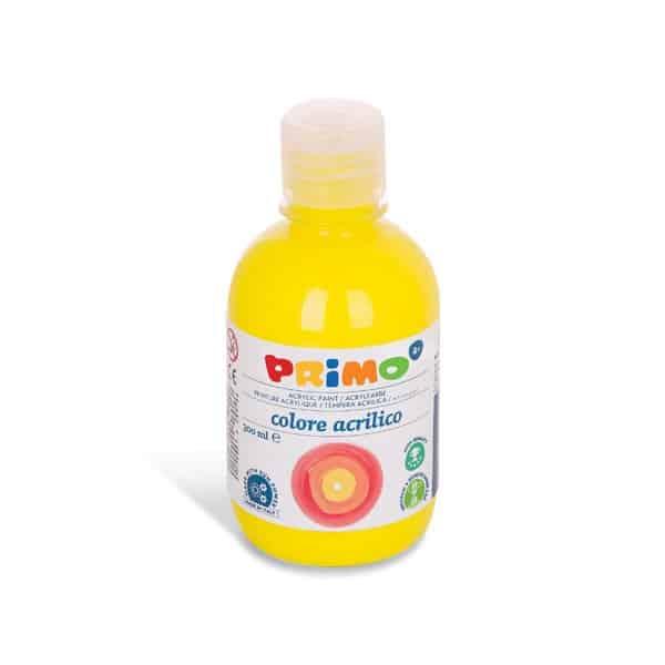 Akrylová barva PRIMO 300 ml, FLUO, žlutá (č. barvy 210)