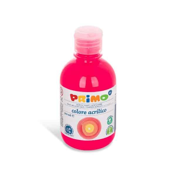 Akrylová barva PRIMO 300 ml, FLUO, růžová (č. barvy 370)
