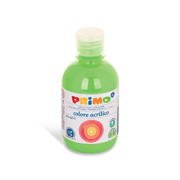 Akrylová barva PRIMO 300 ml, FLUO, zelená (č. barvy 610)
